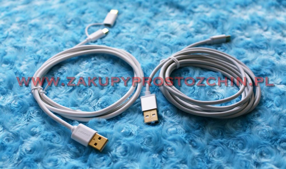 Kabelki Ugreen USB-Micro USB, USB – Micro USB/USB C 2w1