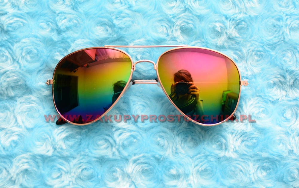 Okulary przeciwsłoneczne tęczowe lustrzanki